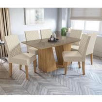 Mesa de Jantar Retangular Romã 6 Cadeiras Kappesberg - Freij -