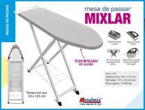Mesa de passar metalmix mixlar aco metalizado branco -