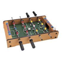 Mesa de Pebolim Totó Futebol Mesa Portátil 12 Jogadores 2 Bolas e Placar - Artbrink