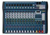 Mesa De Som 12 Canais Ksr Pro Usb Interface K-M1202 Bluetooth Azul -