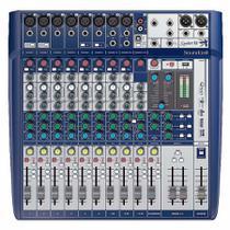 Mesa de Som 12 Canais Signature 12 com USB Soundcraft -