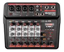Mesa De Som 6 Canais Usb Efeito Bluetooth Interface Mc6-bt - Soundvoice