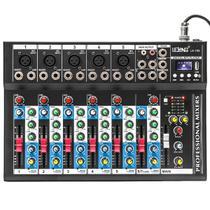 Mesa De Som 7 Canais Com Bluetooth, USB, MP3, Delay Display Digital Com Interface - Lelong
