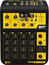 Mesa de som 8 canais, com usb, saída para fone de ouvido, samixconnect 8 - Skp