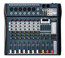 Mesa De Som 8 Canais Ksr Pro Usb Interface K-M802 Bluetooth Azul -
