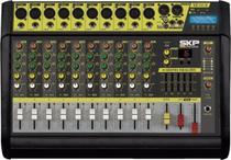 Mesa de Som Amplificada 10 Canais 500W com MP3, Entrada USB , com Efeitos Vz-100 Ii - Skp