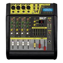 Mesa De Som Amplificada 200w Rms 4 Ohms 4 Canais Vz40a Skp -