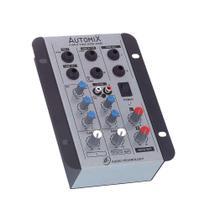 Mesa de Som Automix 2 canais LL Audio A202R - Ll Áudio
