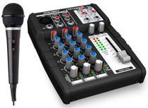 Mesa De Som Automotivo Stetsom Stm0803 3 Canais 1 Microfone -