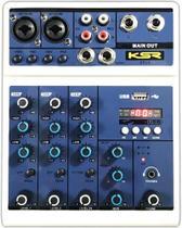 Mesa de Som Interface 4 Canais Bluetooth USB Phantom Efx KSR PRO KTL4 -