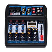 Mesa de Som Lexsen M6 USB Mixer Analógico de 6 Canais com MP3 e Bluetooth -
