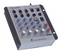 Mesa de Som LL Nanomix NA402R - 4 Canais - 110/220V - Ll Audio