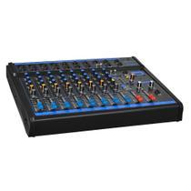 Mesa de Som Oneal OMX 8 - 8 Canais Stereo + 1 Auxiliar -