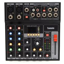Mesa De Som Para DJ Com 7 Canais 16 Efeitos Inclusos, USB, MP3 e Display Digital - Tomate
