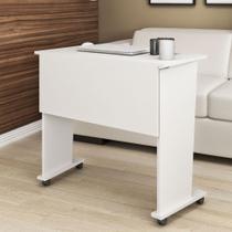 Mesa Dobrável com Rodízio Me4117 Branco -Tecno Mobili - Móveis Videira