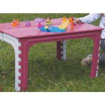 Mesa Dobravel Infantil Plastico Rosa - Antares