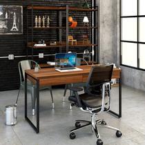 Mesa Escritório Office Estilo Industrial 1,10 M C/ 2 Gavetas - Montelar Móveis