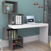 Mesa Escrivaninha 4 Nichos Branco/grafite Esc3004 - Appunto -