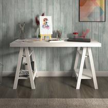 Mesa Escrivaninha Artany Art Home Office 4 Prateleiras Branca -