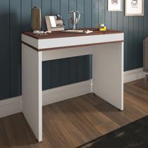Mesa Escrivaninha Artany Mind Home Office Ipê E Branca -
