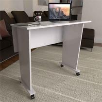 Mesa Escrivaninha Dobrável Scott Com Rodízio Branco - Pnr Móveis -
