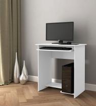 Mesa escrivaninha / mesa computador prática notebook com suporte para teclado - branca - Compreaqui