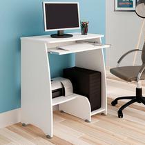 Mesa Escrivaninha Para Computador Artely Pixel 3 Prateleiras Branca -