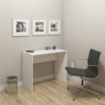 Mesa escrivaninha para escritório e computador modelo 02 sem gavetas - drw móveis - branco -