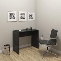 Mesa escrivaninha para escritório e computador modelo 02 sem gavetas - drw móveis - preto -