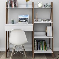 Mesa Escrivaninha Urban 1 Gaveta Branco/castanho Est4001 - Appunto -