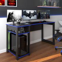 Mesa Gamer Dark Para 3 Monitores Preto/azul - Pnr Móveis -