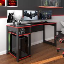 Mesa Gamer Dark Para 3 Monitores Preto/vermelho - Pnr Móveis -