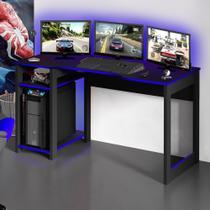 Mesa Gamer Destiny Ideal Para 3 Monitores Preto/azul - Tecno Mobili -