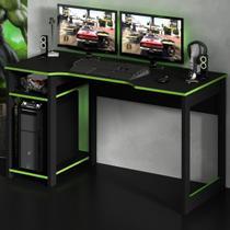 Mesa Gamer Destiny Ideal Para 3 Monitores Preto/verde - Tecno Mobili -