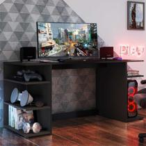 Mesa Gamer Escrivaninha Guilda Multimóveis Preta -