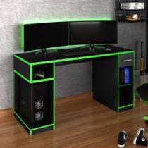 Mesa Gamer Idl Xp 1000 Pro 1 Gaveta Com Mouse Pad Gamer Black/verde - Móveis Germai -