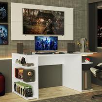 Mesa Gamer Madesa 9409 e Painel para TV até 50 Polegadas - Branco -