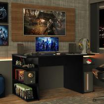 Mesa Gamer Madesa 9409 e Painel para TV até 50 Polegadas - Preto/Rustic -