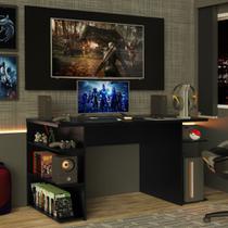 Mesa Gamer Madesa 9409 e Painel para TV até 50 Polegadas - Preto -