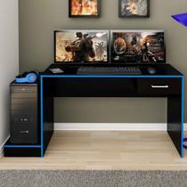 Mesa Gamer Sirius 1 Gaveta Preto/azul - Artely - Artely móveis