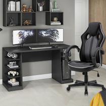 Mesa Gamer XP Preto + Cadeira Gamer Royale Preto - MOOBX