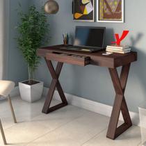 Mesa Home Office Minimalista Veneza Artany Branco Louro -