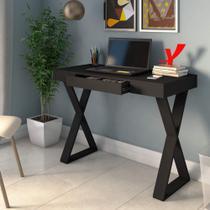 Mesa Home Office Minimalista Veneza Artany Preto -