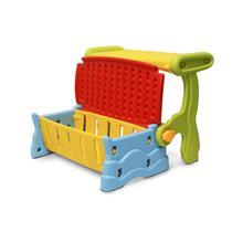 Mesa Infantil 3 em 1 Plastico Banco Bau Cadeira Colorido IWMI-3x1 Importway -