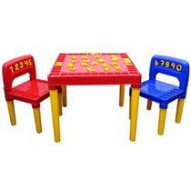 Mesa Infantil Desmontável 2 Cadeira Educativa para Crianças - TRITEC
