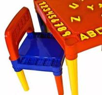 Mesa Infantil Educativa Didatica Desmontável Mesinha Com 2 Cadeiras - tritec