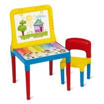 Mesa Infantil Pequeno Artista Com Cadeira E Quadro 9052 - Bell Toy -