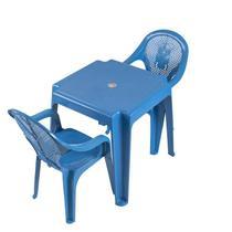 Mesa Infantil  Ursinho Com 02 Cadeiras Plásticas Várias Cores - ANTARES