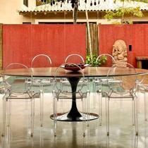 Mesa Jantar Oval Saarinen Madeira 180x100x75 - Decorafast