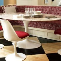 Mesa Jantar Oval Saarinen Mármore Carrara 137x90x73 - Decorafast